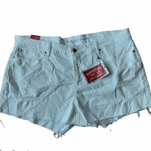 Levis white distressed high rise shorts